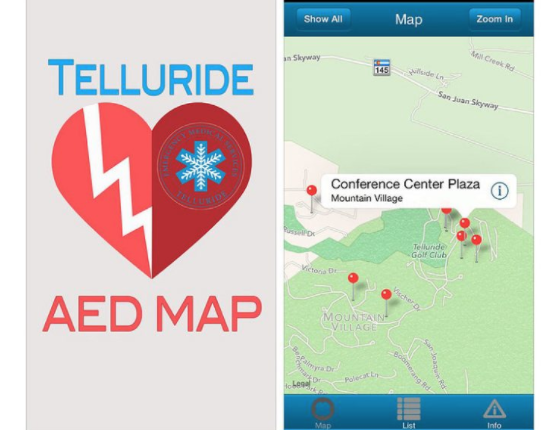 Telluride Properties Helped Fund AED that Saved Tourist's Life